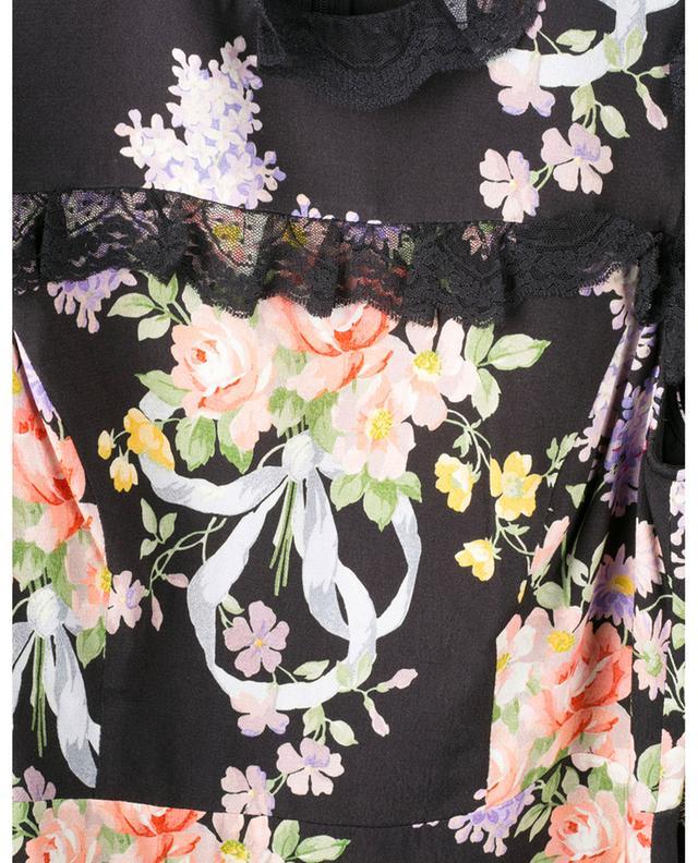 Robe courte en viscose avec volants et imprimé fleuri Elsa NEEDLE &THREAD