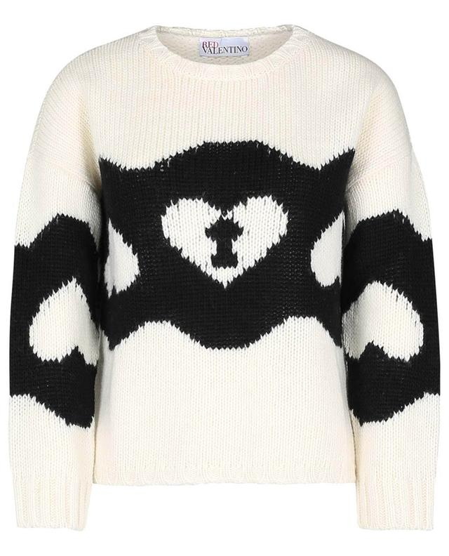 Pull jacquard en laine vierge Chains and Padlocks RED VALENTINO