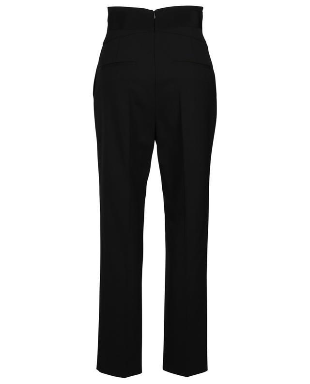 Pantalon droit taille haute en laine Tuxedo Bow RED VALENTINO