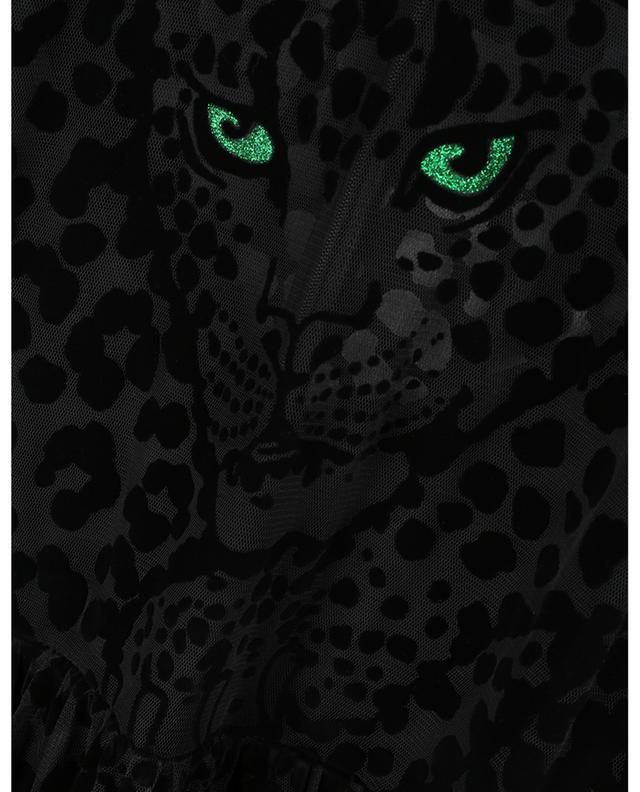 Robe longue imprimée léopard floqué avec ceinture RED VALENTINO