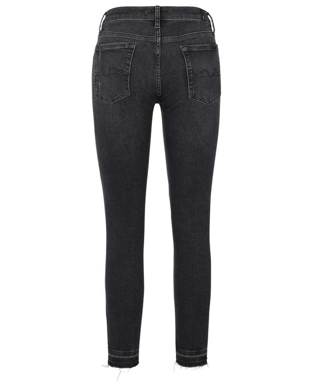 Jean raccourci vieilli The Skinny Crop Unrolled Slim Illusion Epic Distressed 7 FOR ALL MANKIND