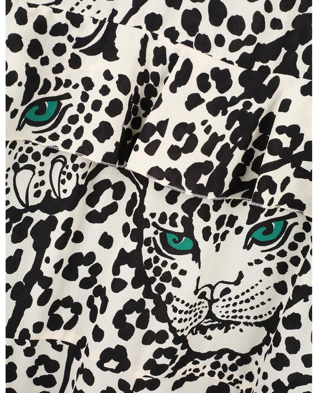 Robe midi imprimée en crêpe Leo Panther RED VALENTINO