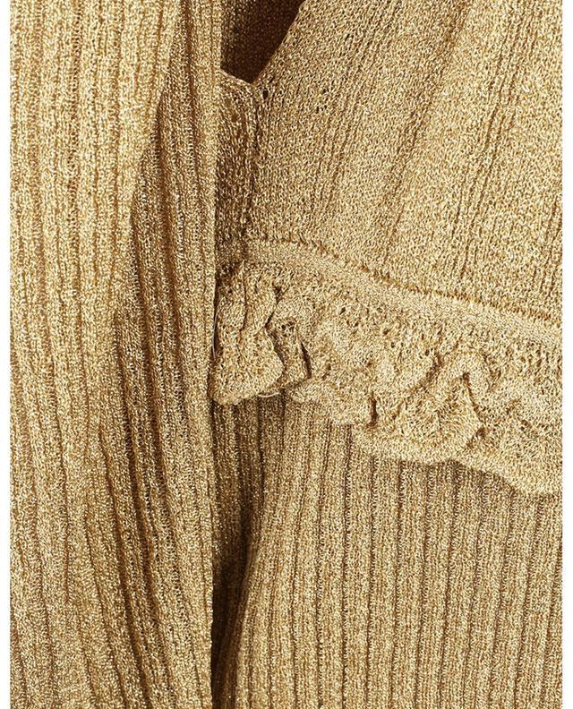 Robe empire longue sans manches en maille de lurex ajourée M MISSONI
