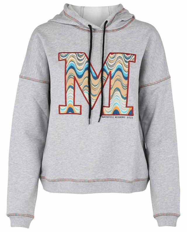 Sweat-shirt à capuche avec monogramme en maille Archivio M MISSONI