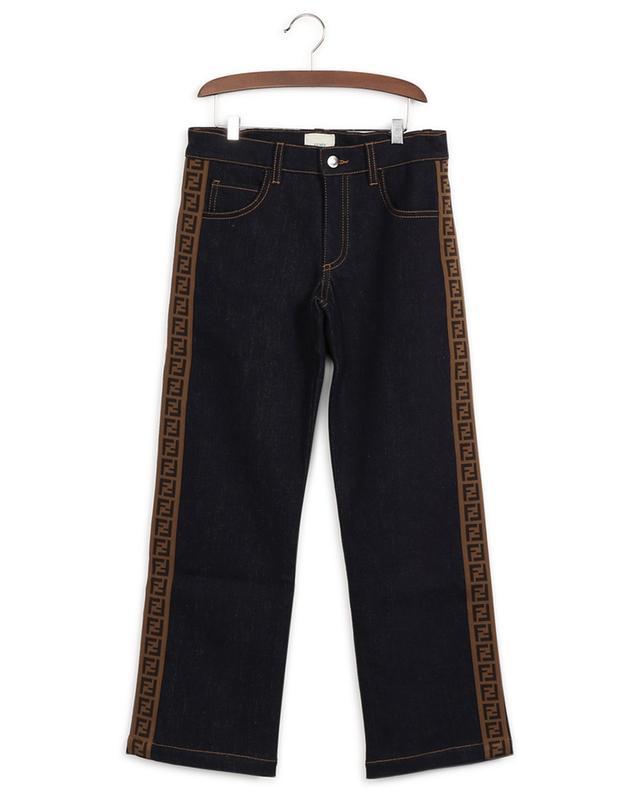 Jeans aus Baumwollmix mit Logostreifen FENDI