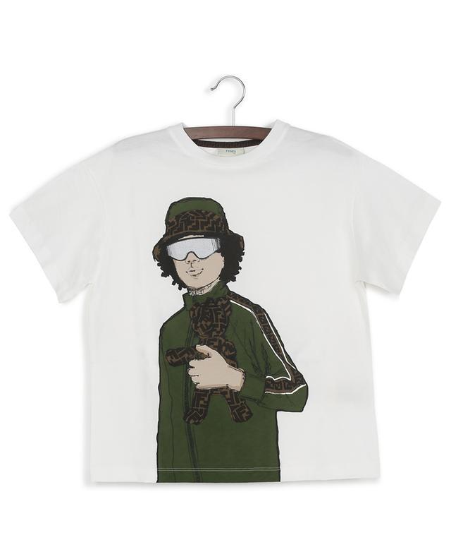 T-shirt en coton imprimé FENDI