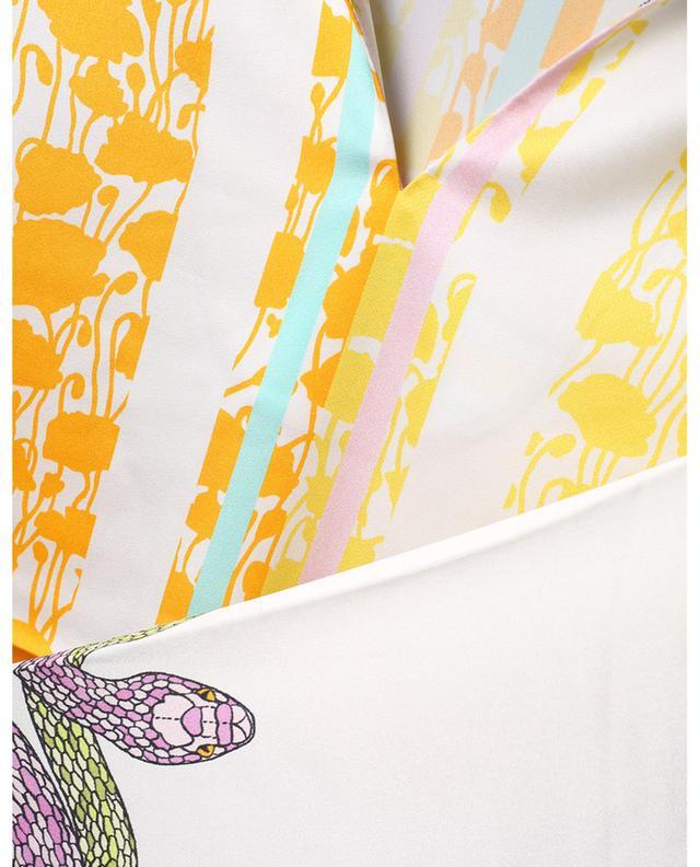 Robe tunique en satin imprimée serpents HERZEN'S ANGELEHEIT