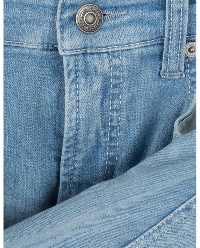 Jean slim en coton bio détail perles et franges Pina CAMBIO