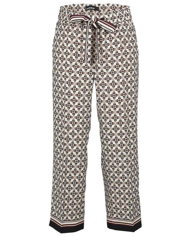 Pantalon large raccourci en sergé imprimé géométrique Colette CAMBIO
