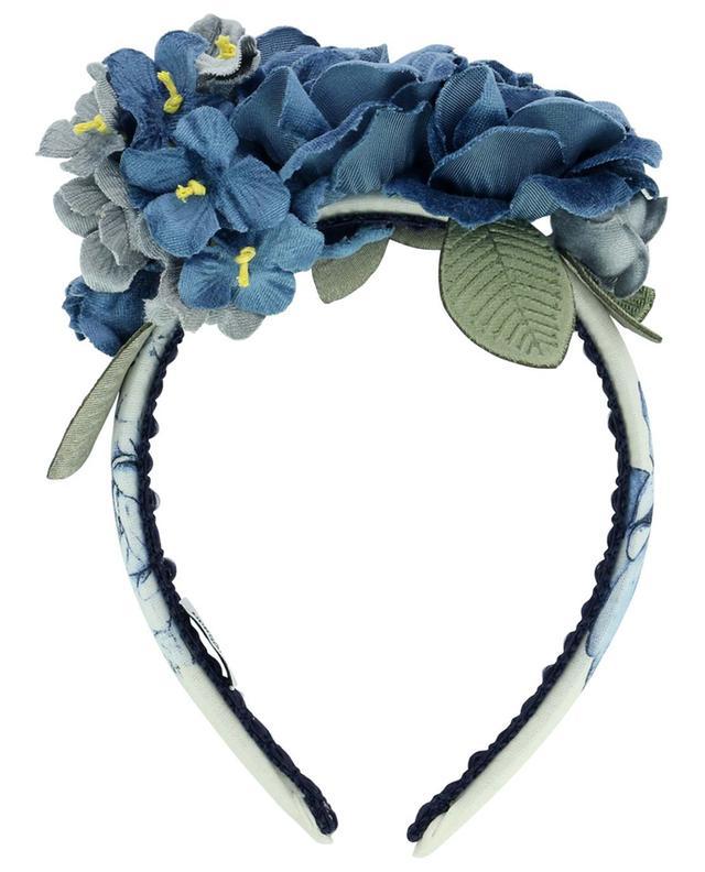Serre-tête embelli de fleurs en velours Fiori Rose Parisien MONNALISA