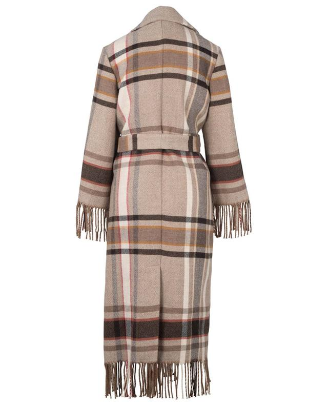 Manteau ouvert à franges en laine avec ceinture ETRO