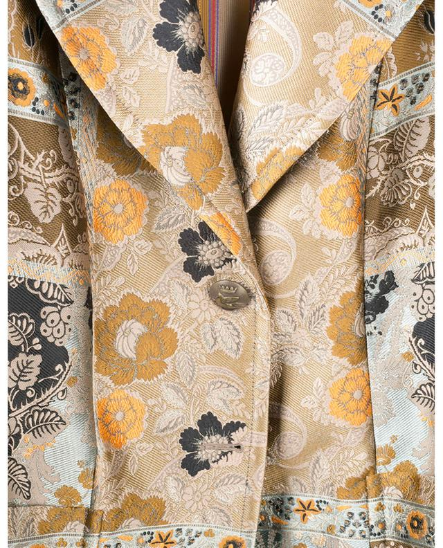 Silk and viscose blend paisley jacquard coat ETRO