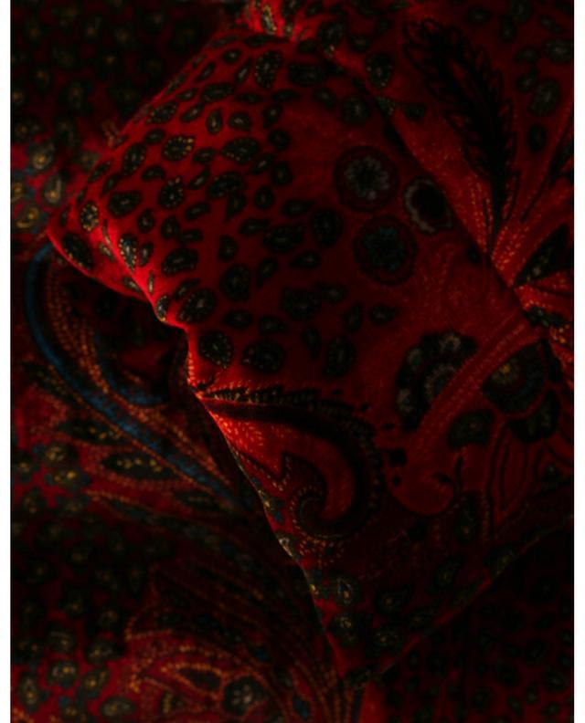 Doudoune en velours imprimé paisley à col montant Brumby ETRO