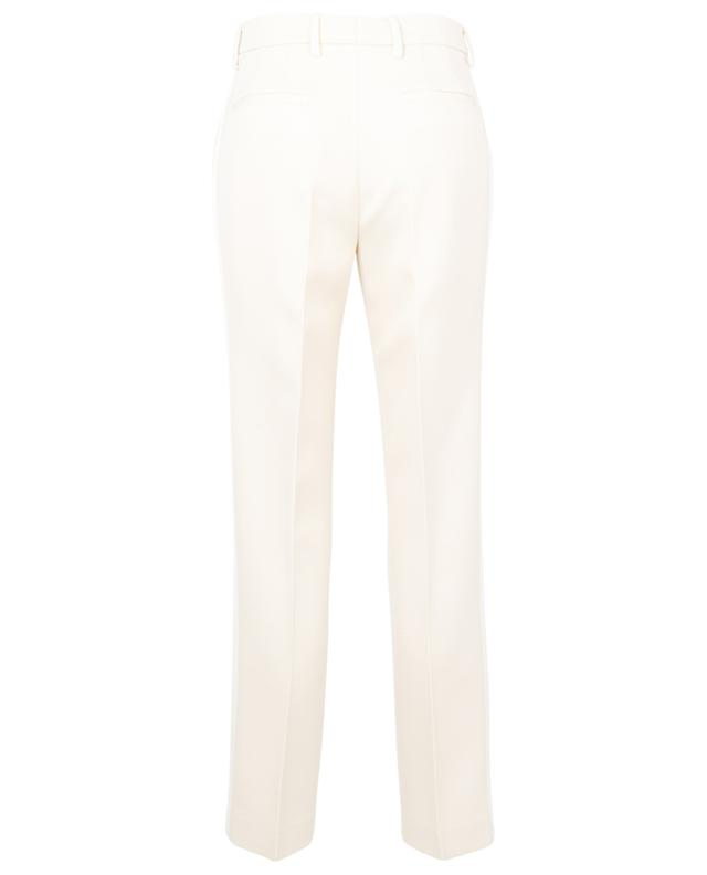 Bristol straight-fit textured wool trousers with grosgrain ribbons ETRO