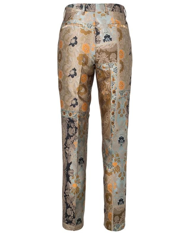 Silk and viscose blend paisley jacquard trousers ETRO
