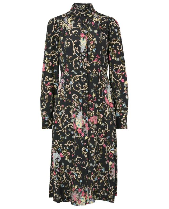 Fleuve flared floral silk shirt dress ETRO