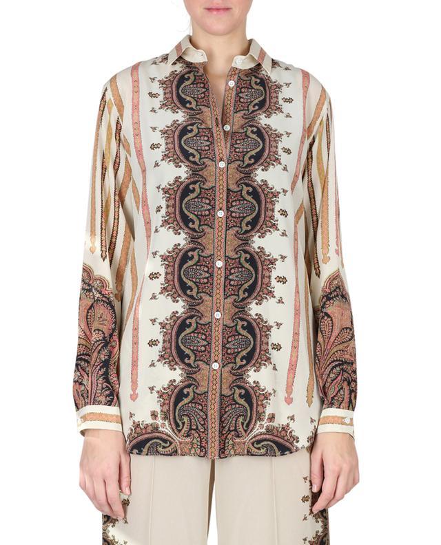 Boyfit crepe shirt with oriental patterns ETRO