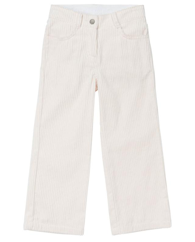 Pantalon évasé en velours côtelé Jumbo STELLA MCCARTNEY KIDS
