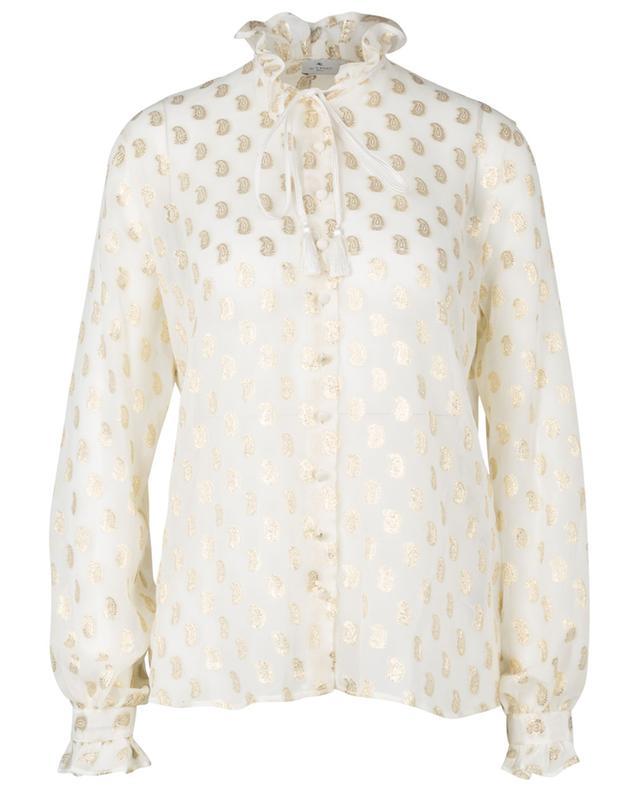 Paisley print sheer silk blouse ETRO