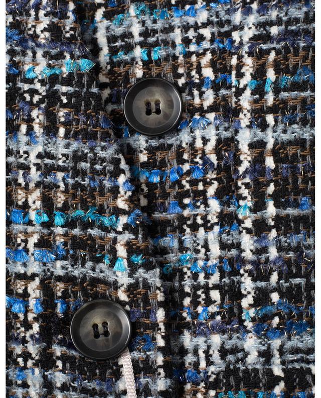 Blazer à boutonnière double en tweed scintillant Comodo IBLUES