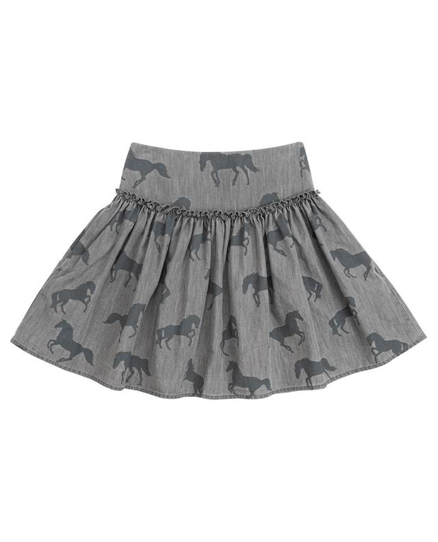 Jupe en chambray imprimé Bleached Horses STELLA MCCARTNEY KIDS