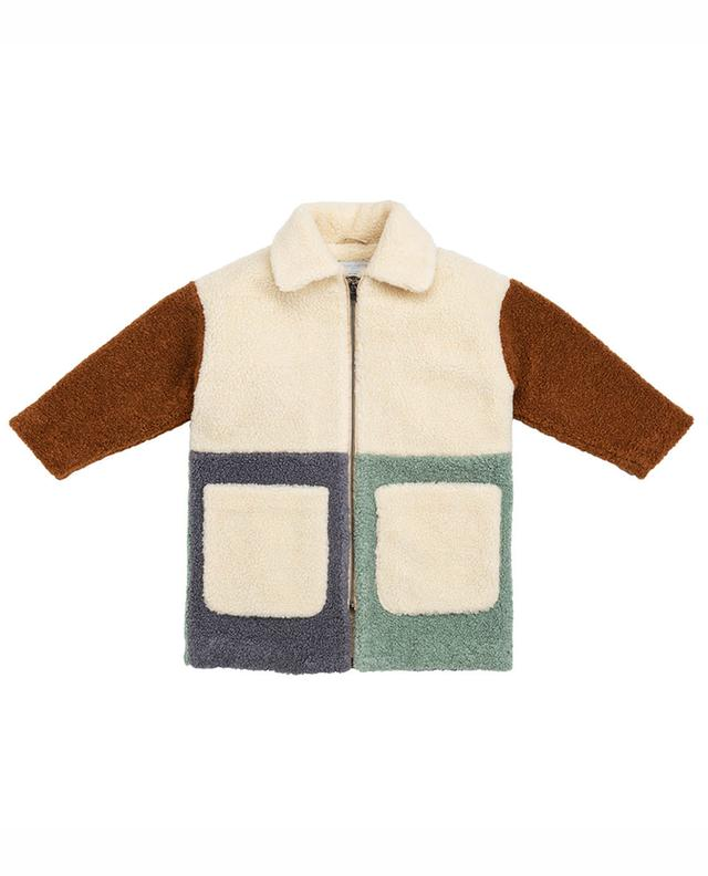 Manteau en fourrure synthétique Teddy Patchwork STELLA MCCARTNEY KIDS