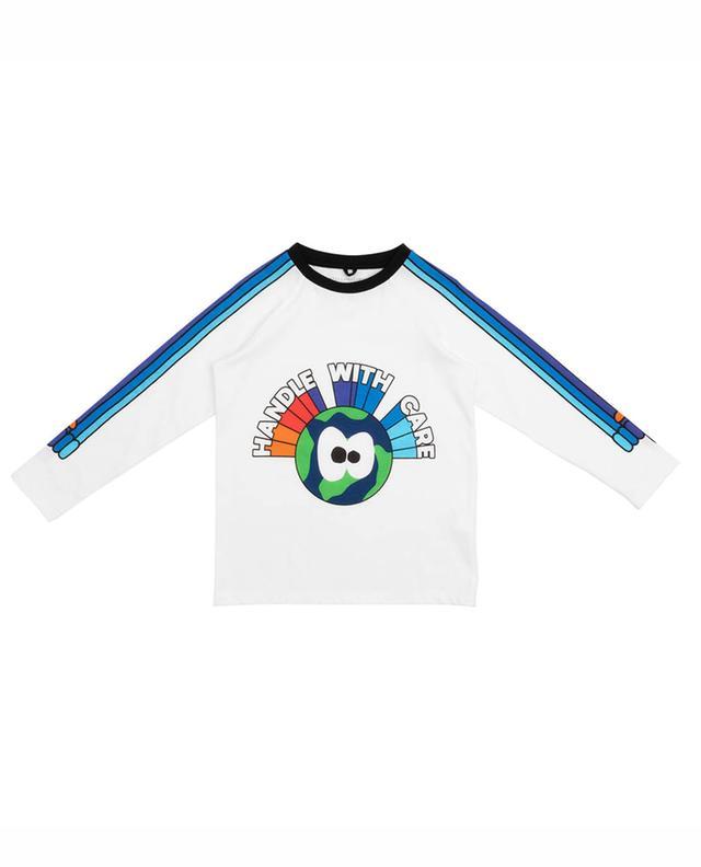 T-shirt à manches longues imprimé terre Handle With Care STELLA MCCARTNEY KIDS