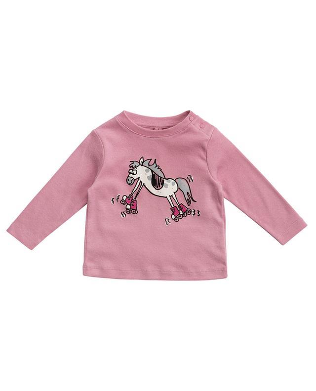 T-shirt à manches longues imprimé Skating Horse STELLA MCCARTNEY KIDS