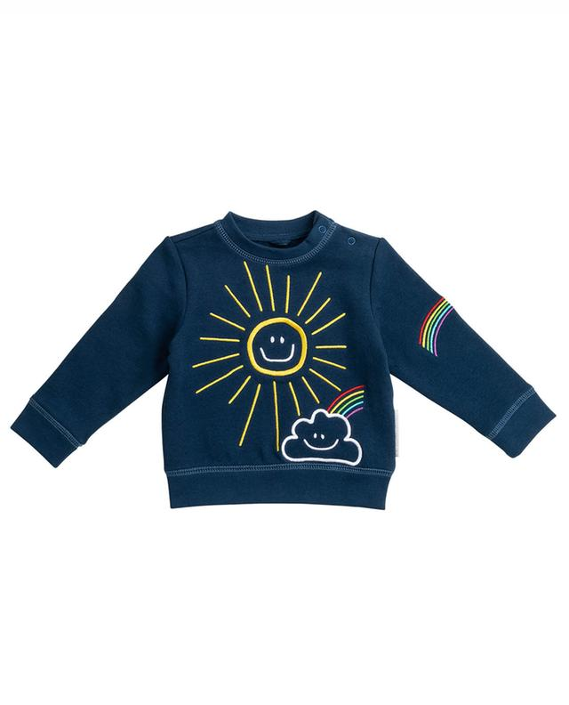 Sweat-shirt à col rond à motifs Sun, Cloud and Rainbow STELLA MCCARTNEY KIDS