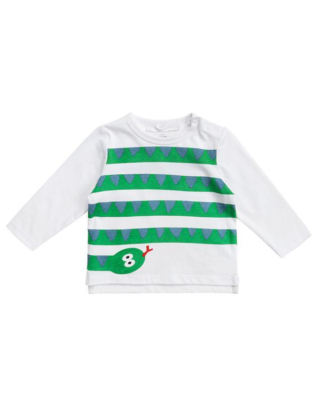 T-shirt à manches longues imprimé Snake Stripes STELLA MCCARTNEY KIDS