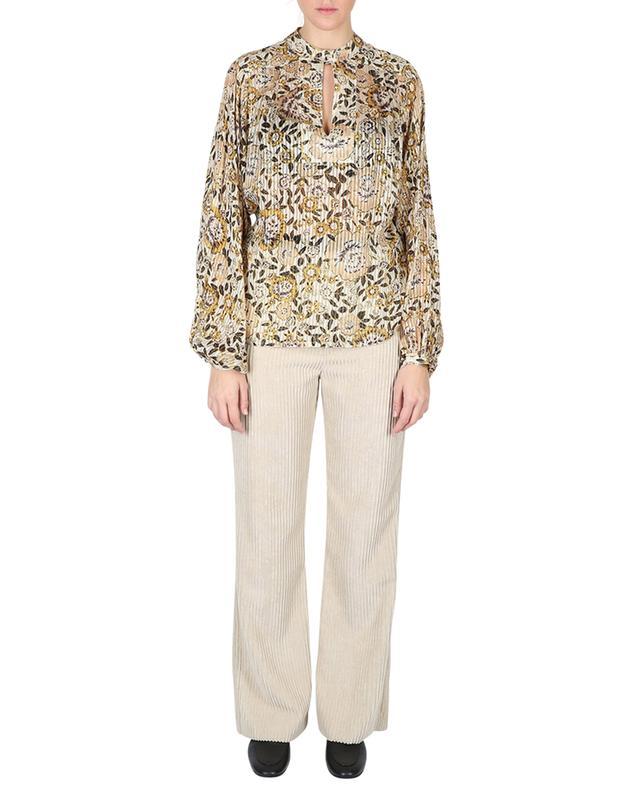 Bluse aus Seide mit Blumenprint und Puffärmeln ETRO