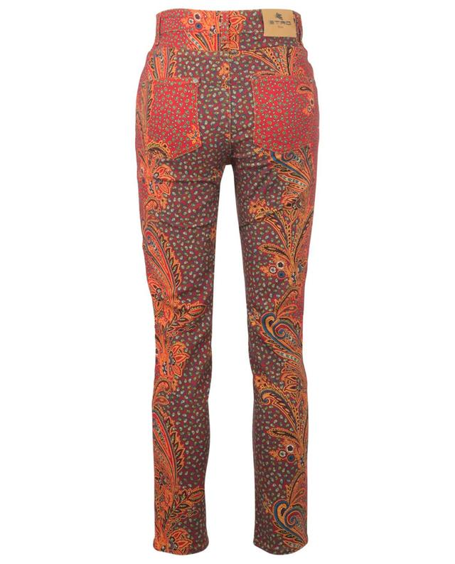 Jean skinny taille haute imprimé esprit bandana ETRO