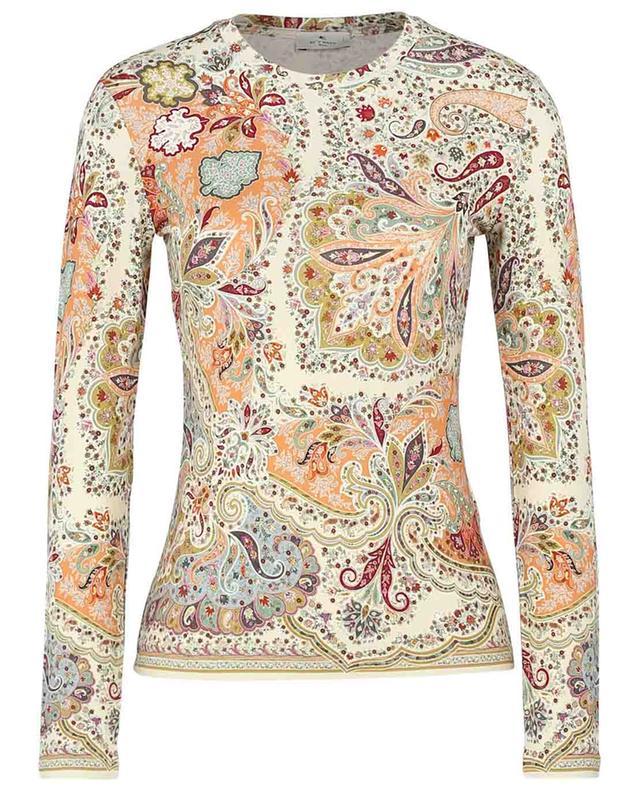 Langarm-T-Shirt mit geblümtem Paisley-Print Brumby ETRO