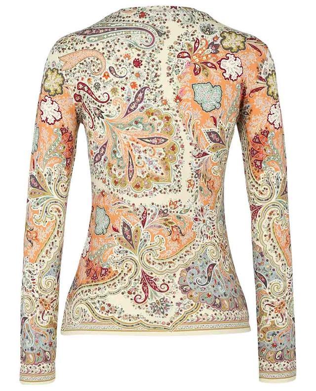 T-shirt à manches longues imprimé paisley fleuri Brumby ETRO