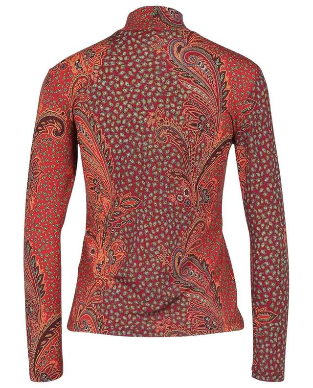 Borana bandana printed fitted jersey top ETRO