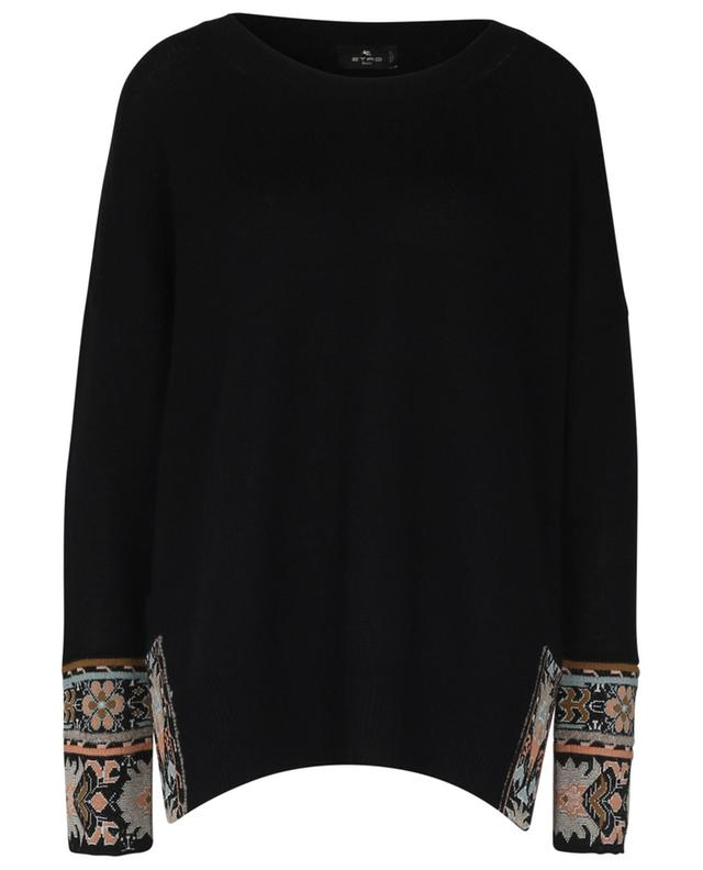 Oversize knit jumper with paisley embroideries ETRO