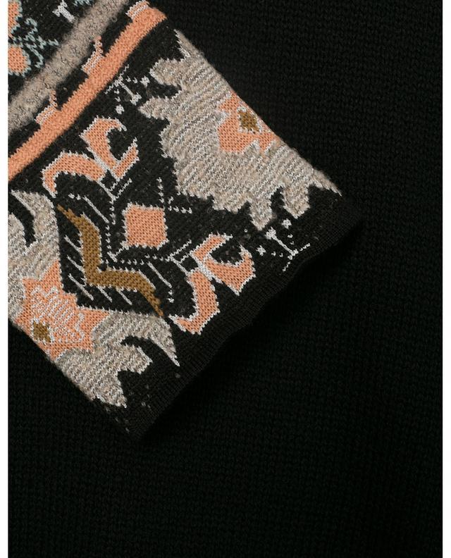 Oversize-Strickpullover mit Paisley-Stickereien ETRO