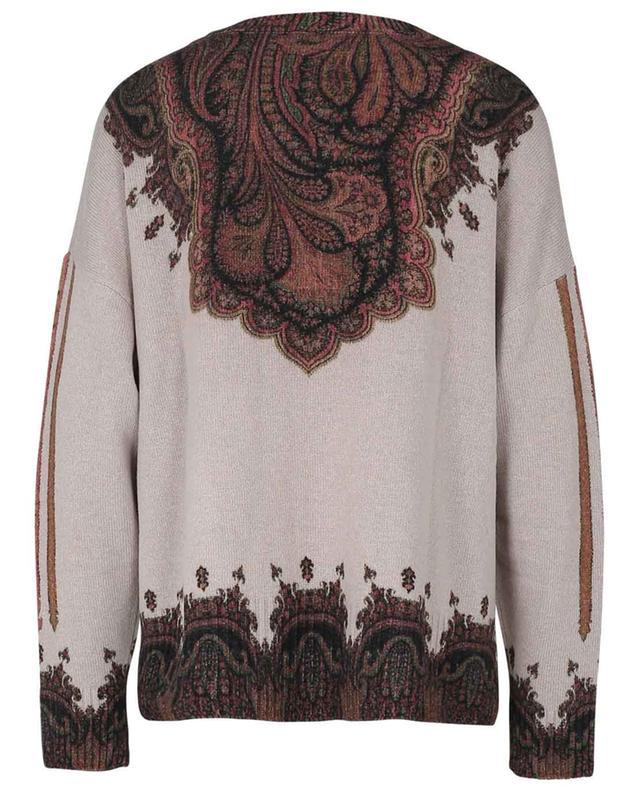 Pullover aus Wolle und Kaschmir mit Paisley-Print ETRO
