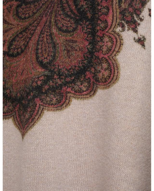 Pull en laine et cachemire imprimé Paisley ETRO