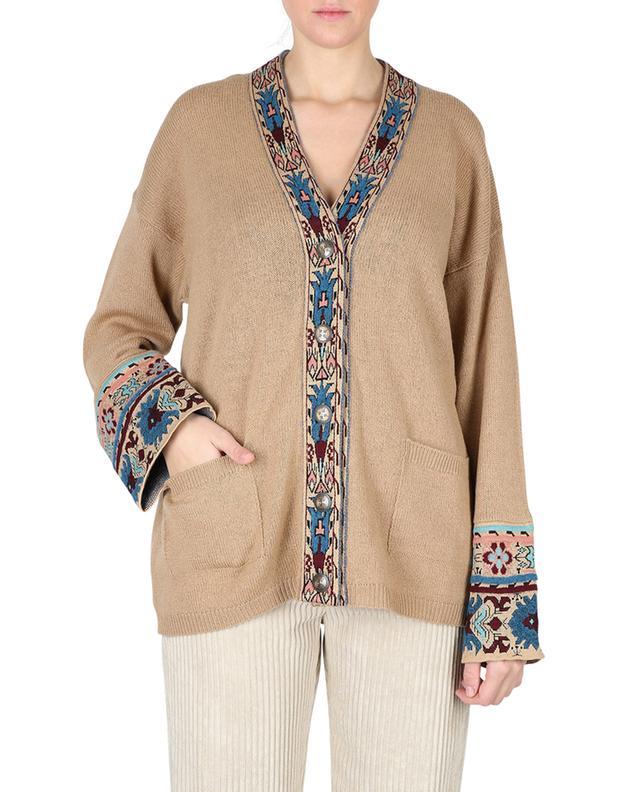 Cardigan ample boutonné motifs ethniques Dongola ETRO