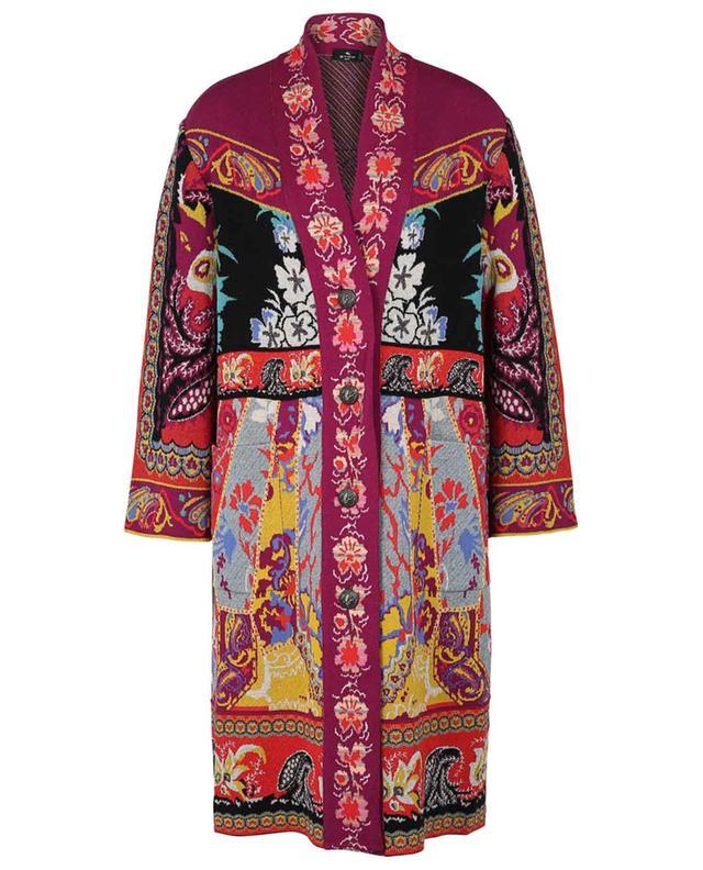 Andravida floral skint jacquard coat ETRO
