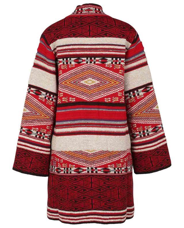Don ethnical jacquard knit coat ETRO