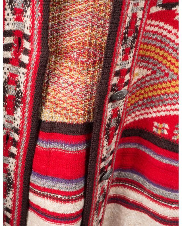 Jacquard-Strickmantel mit ethnischen Motiven Don ETRO