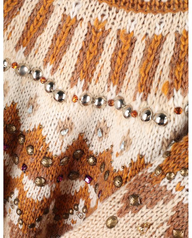 Pull en laine mélangée avec cristaux Maharadjah MES DEMOISELLES