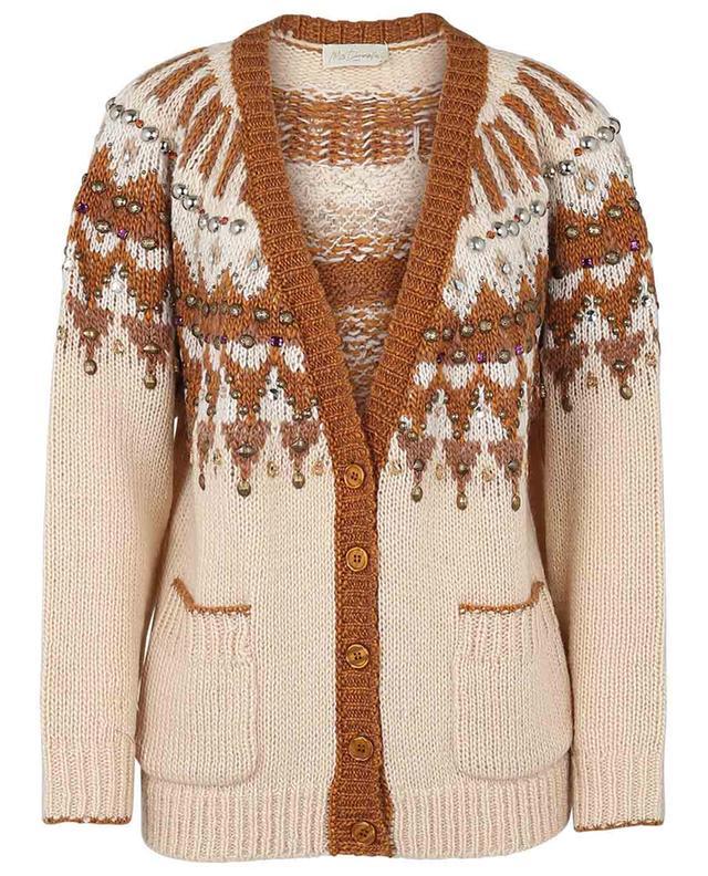 Cardigan en laine mélangée avec cristaux Molier MES DEMOISELLES