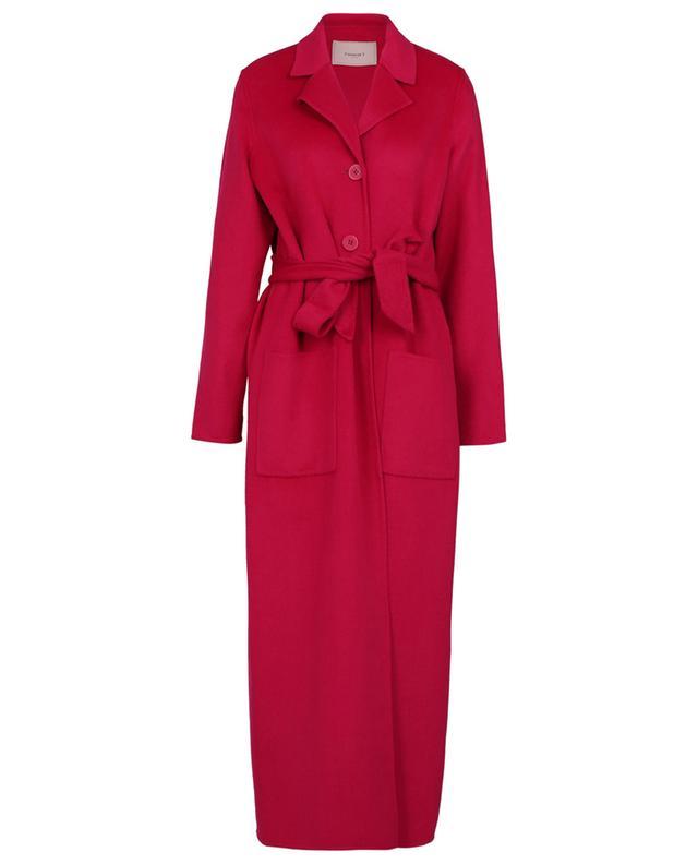 Long manteau en laine mélangée avec ceinture TWINSET