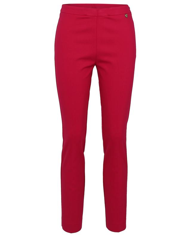 Slim fit stretch viscose blend trousers TWINSET