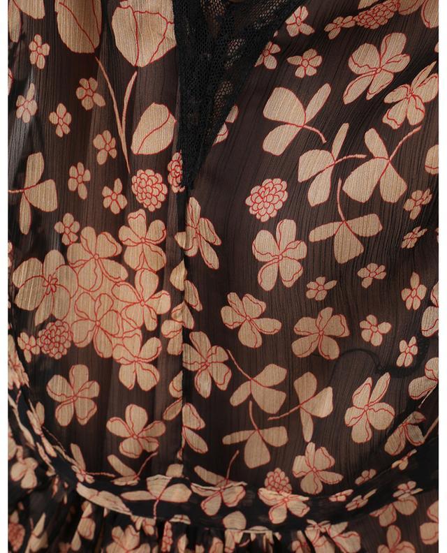 Robe longue fleurie sans manches en mousseline TWINSET