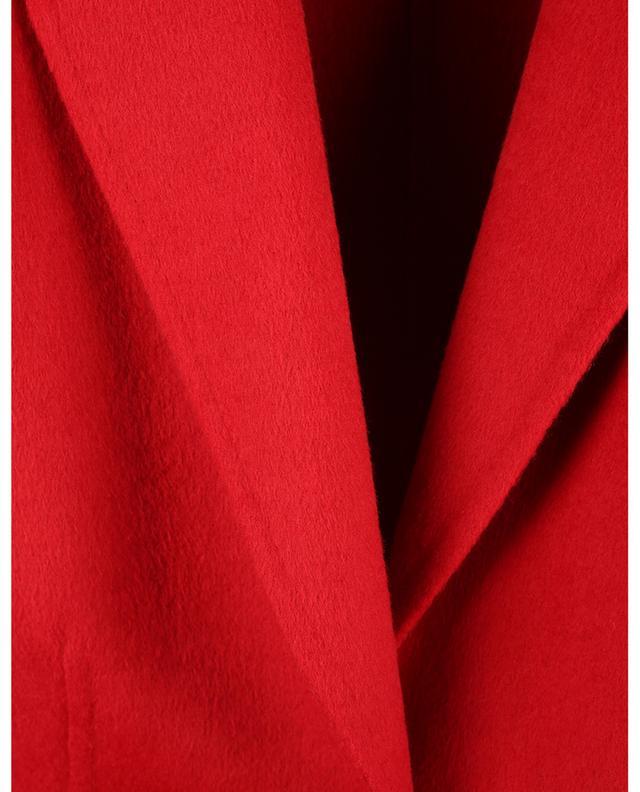 Manteau double-face en feutre de laine mélangée rouge TWINSET