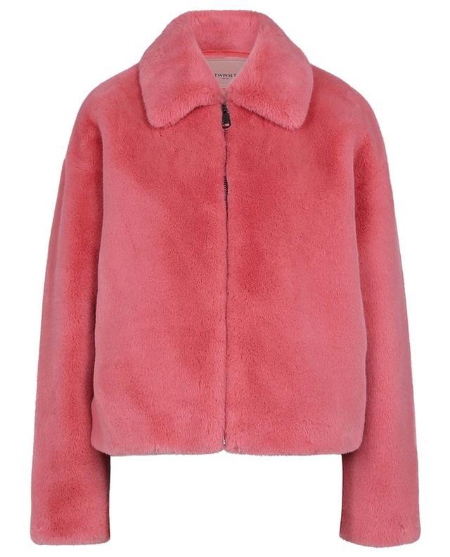 Gefütterte Jacke aus Kunstpelz TWINSET
